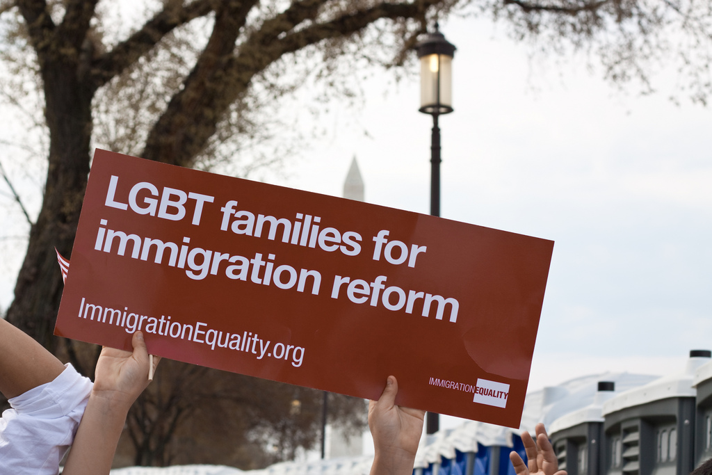 There were a number of LGBT groups present at the 2010 March for