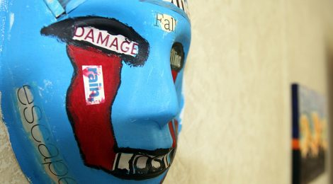 Melissa Walker, art, masks, recovery, trauma, psychology, PTSD, TBI, mental illness, veterans, military, war, soldiers, creativity, artwork, video