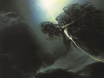 Maxim Vorobiev, loss, grief, depression, painting, pain, shock, death, metaphor, despair