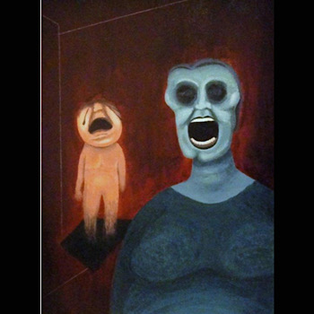image, acrylic, painting, art composition, francis bacon, local artist, guelph, painter, mother, child, childhood trauma, art therapy, expression, coping, sadness, anger, pain, hurt, grief, mental health, mental illness